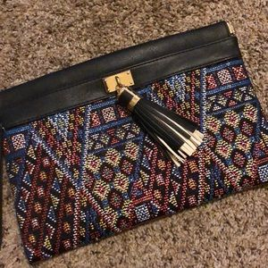 Colorful Aztec clutch